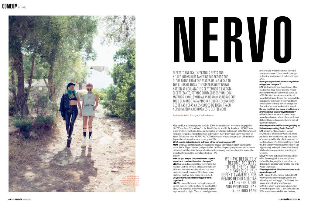 NERVO Interview for Ushuaia Magazine